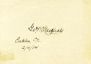 Autographs: MAJOR GENERAL GEORGE W. GOETHALS - SIGNATURE(S) 02/14/1914