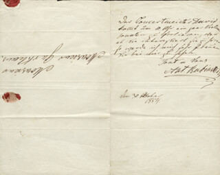 ANTON RUBINSTEIN - AUTOGRAPH LETTER SIGNED 10/30/1854