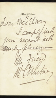 WILLIAM COLLINS WHITNEY - AUTOGRAPH LETTER SIGNED