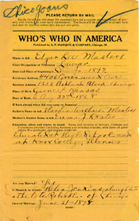 EDGAR LEE MASTERS - QUESTIONNAIRE SIGNED 06/21/1898