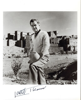 LOWELL THOMAS - AUTOGRAPHED SIGNED PHOTOGRAPH