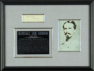 Autographs: BRIGADIER GENERAL RANDALL L. GIBSON - SIGNATURE(S)
