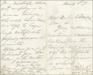 GENERAL WILLIAM BADGER TIBBITS - AUTOGRAPH LETTER SIGNED 03/08/1879