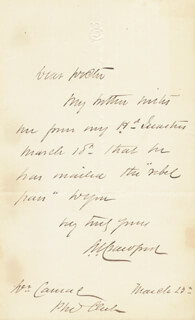 MAJOR GENERAL SAMUEL WYLIE CRAWFORD - AUTOGRAPH LETTER SIGNED 03/23/1864