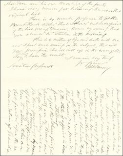 Autographs: MAJOR GENERAL WILLIAM H. EMORY - AUTOGRAPH LETTER SIGNED 04/03/1866
