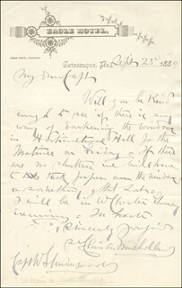 MAJOR GENERAL ST. CLAIR AUGUSTINE MULHOLLAND - AUTOGRAPH LETTER SIGNED 09/23/1889