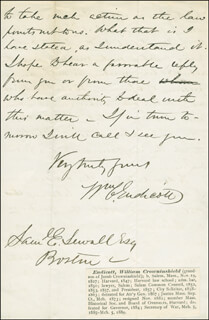 Autographs: WILLIAM C. ENDICOTT - AUTOGRAPH LETTER SIGNED 04/09/1869