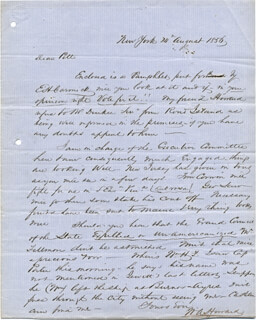 COLONEL WILLIAM A. HOWARD - AUTOGRAPH LETTER SIGNED 08/14/1856  - HFSID 174706
