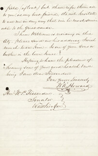 COLONEL WILLIAM A. HOWARD - AUTOGRAPH LETTER SIGNED 01/02/1861