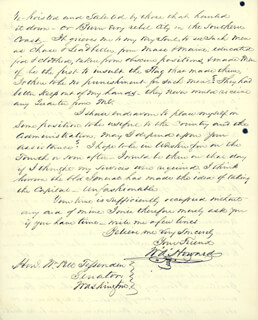 COLONEL WILLIAM A. HOWARD - AUTOGRAPH LETTER SIGNED 02/17/1861