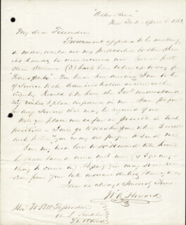 COLONEL WILLIAM A. HOWARD - AUTOGRAPH LETTER SIGNED 04/05/1861