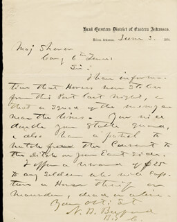 MAJOR GENERAL NAPOLEON B. BUFORD - AUTOGRAPH LETTER SIGNED 06/03/1864