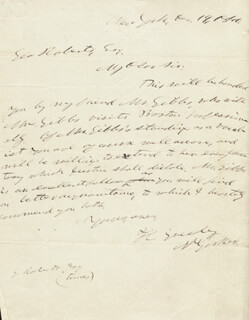 HORACE GREELEY - AUTOGRAPH LETTER SIGNED 12/19/1840