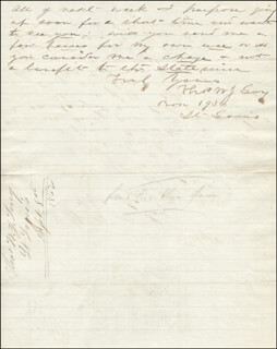 THOMAS W. J. LONG - AUTOGRAPH LETTER SIGNED 09/08/1862