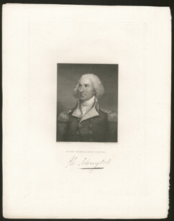 MAJOR GENERAL PHILIP JOHN SCHUYLER - ENGRAVING UNSIGNED