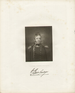 COMMODORE WILLIAM BAINBRIDGE - ENGRAVING UNSIGNED