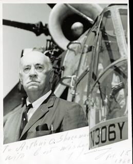 IGOR SIKORSKY - AUTOGRAPHED INSCRIBED PHOTOGRAPH 02/15/1968