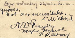 Autographs: MAJOR GENERAL ADOLPHUS W. GREELY - AUTOGRAPH QUOTATION SIGNED