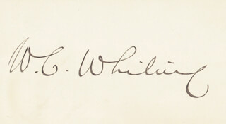 WILLIAM COLLINS WHITNEY - AUTOGRAPH