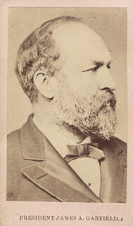 PRESIDENT JAMES A. GARFIELD - PHOTOGRAPH MOUNT UNSIGNED