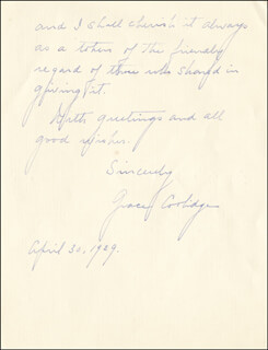 FIRST LADY GRACE COOLIDGE - AUTOGRAPH LETTER SIGNED 04/30/1929