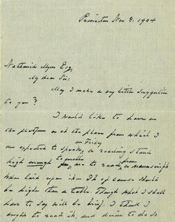 PRESIDENT GROVER CLEVELAND - AUTOGRAPH LETTER SIGNED 11/08/1904