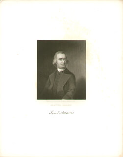 Autographs: SAMUEL ADAMS - ENGRAVING UNSIGNED