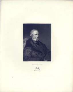 HENRY CLAY - ENGRAVING UNSIGNED