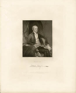 CHIEF JUSTICE JOHN JAY SR. - ENGRAVING UNSIGNED