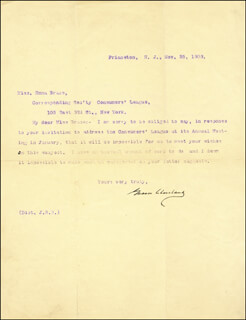 Autographs: PRESIDENT GROVER CLEVELAND - TYPED LETTER SIGNED 11/25/1903