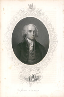 PRESIDENT JAMES MADISON - ENGRAVING UNSIGNED