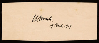 Autographs: PRIME MINISTER JAN C. SMUTS (SOUTH AFRICA) - SIGNATURE(S) 03/19/1917