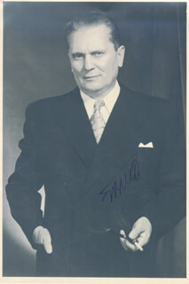PRESIDENT JOSIP BROZ TITO (YUGOSLAVIA) - AUTOGRAPHED SIGNED PHOTOGRAPH