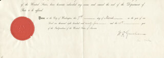 Autographs: BRIGADIER GENERAL WALTER Q. GRESHAM - DOCUMENT FRAGMENT SIGNED 03/07/1894
