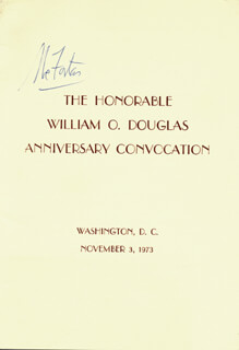 Autographs: ASSOCIATE JUSTICE ABE FORTAS - PROGRAM SIGNED CIRCA 1973