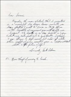 HERB ADAMS - AUTOGRAPH LETTER SIGNED