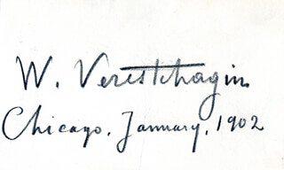 VASILY V. VERESHCHAGIN - AUTOGRAPH 01/1902
