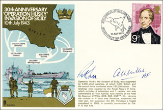 ADMIRAL ALGERNON U. WILLIS - FIRST DAY COVER SIGNED CO-SIGNED BY: COMMANDER P. R. BELL
