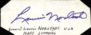 GENERAL LAURIS NORSTAD - AUTOGRAPH