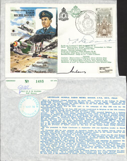 LT. GENERAL MICHEL G.L. MIKE DONNET - COMMEMORATIVE ENVELOPE SIGNED