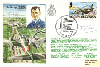 MARSHAL THOMAS G. PIKE - COMMEMORATIVE ENVELOPE SIGNED CIRCA 1978