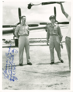 ENOLA GAY CREW (COLONEL THOMAS W. FEREBEE) - AUTOGRAPHED SIGNED PHOTOGRAPH