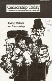 IRVING WALLACE - PAMPHLET SIGNED