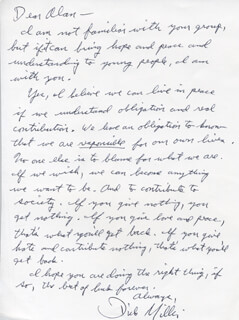 DICK MILLER - AUTOGRAPH LETTER SIGNED