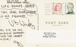 WILLIAM WINDOM - AUTOGRAPH NOTE DOUBLE SIGNED 1991