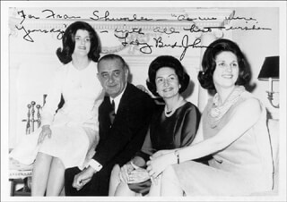 FIRST LADY LADY BIRD JOHNSON - AUTOGRAPHED INSCRIBED PHOTOGRAPH  - HFSID 175264