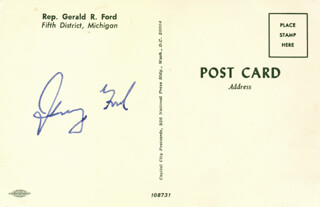 PRESIDENT GERALD R. FORD - PICTURE POST CARD SIGNED