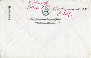 THREE STOOGES (MOE HOWARD) - AUTOGRAPH ENVELOPE SIGNED
