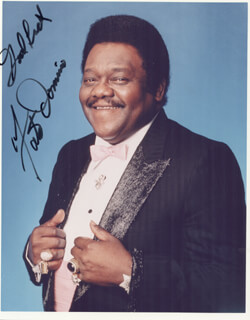FATS DOMINO - AUTOGRAPHED SIGNED PHOTOGRAPH