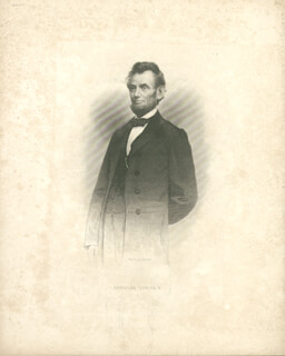 PRESIDENT ABRAHAM LINCOLN - ENGRAVING UNSIGNED